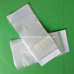 Plastic Header Bag with Adhesive Tape for Trash Packing pictures & photos