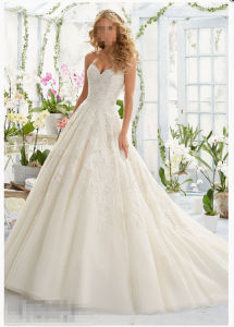 2016 Ball Gownlace Beaded Bridal Wedding Gowns 2808 pictures & photos