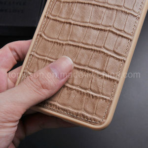 Flat Crocodile Pattern Genuine Leather Case for iPhone 6 Plus pictures & photos
