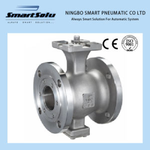 Different Size Notch Flanged End Ball Valve Pneumatic Actuator pictures & photos