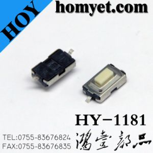 Bulk Wholesale 6*3mm Square Tact Switch 2pin SMD Tactile Switches (HY-1181P-R) pictures & photos