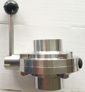 Cheap Price Sanitary Stainless Butterfly Valve, Butterfly Valve for Milk pictures & photos
