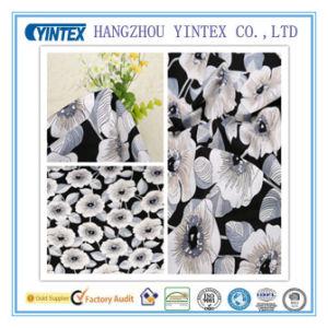 Elegant Big Black Jacquard 100% Cotton Fabric Anti-Pilling for Sheet/Garment pictures & photos