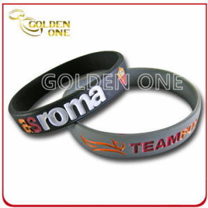 Hot Sell Fashion Custom Deep Stamped Logo Wrist Band pictures & photos