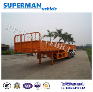 Vietnam Type Tri Axle Compartment Side Wall Cargo Truck Semi Trailer pictures & photos