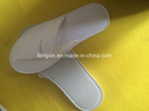 Non-Woven White Disposable Hotel Slipper pictures & photos