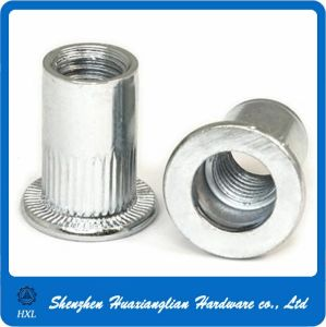 Zinc Plated Steel Knurled Body Thread Flat Head Rivet Nut pictures & photos