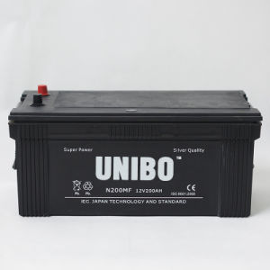 Truck Battery N200 Maintenance Free 12V200ah High Quality JIS Car Battery pictures & photos