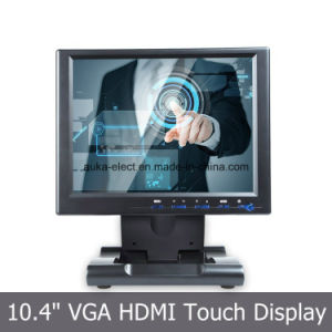 10.4 Inch LCD Monitor with 4-Wire Resistive Touch Panel Screen pictures & photos