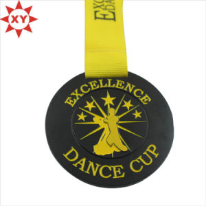 Promotional Cheap Gold Medal with Yellow Ribbon pictures & photos