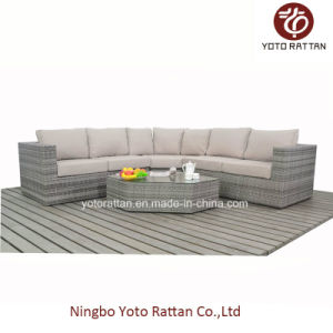 New Style Wicker Sofa Set in Grey (1403) pictures & photos