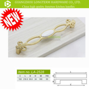 Chromed /Gold Plated Fancy Zinc Alloy Ceramic Cabinet Door Handles pictures & photos