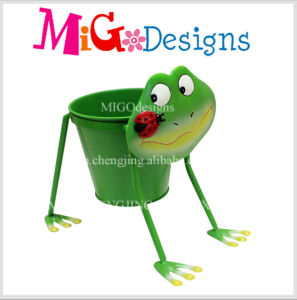 Delightful Frog Style Iron Animal Planter Pot Top Sale OEM pictures & photos
