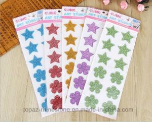 Die Cut Flower Star Sticker 3D Crystal Glitter Sticker (TS-512 flower and star) pictures & photos