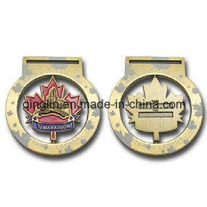 Custom Hurdle Race Metal Medals with 3D Logo (QL-JP-0031) pictures & photos