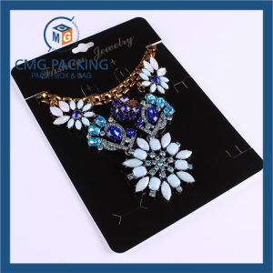 High Sales Black Plastic Card Gold Printed Necklace Display Card pictures & photos
