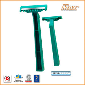 Twin Stainless Steel Blade Disposable Razor for Medical Use (LY-2370G) pictures & photos