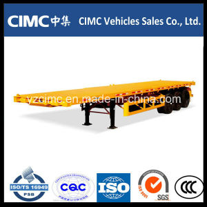 Cimc 3 Axles 40FT Flatbed Trailer with High Tention Steel pictures & photos