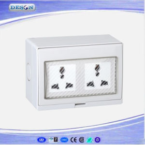 IP55 2 Gang Waterproof Universal Wall Socket pictures & photos