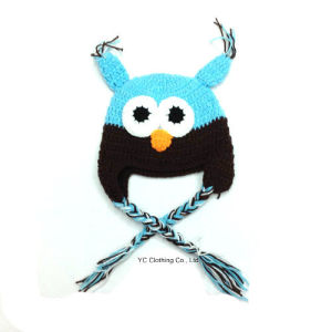 Acrylic Animal Knitted Owl Cap pictures & photos