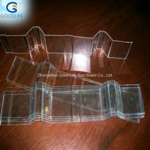 1.5mm Transparent Corrugated Sheet Polycarbonate Plastic for Green House pictures & photos