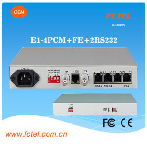 4 PCM Mux (phone data over coaxial cable) Mini Type with Internal Power