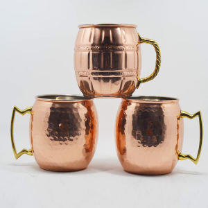 Stainless Steel Hammered Moscow Mule Cocktail Copper Mugs pictures & photos