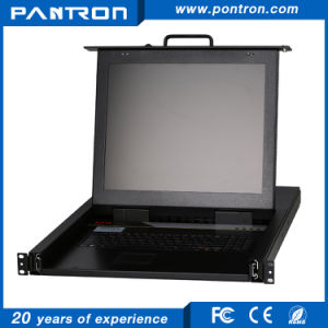 8ports 16ports 32ports 1u Rack Mount 19′′ LCD Cat5 Kvm Switch pictures & photos