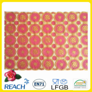 50cm Golden PVC /Vinyl Long Lace Table Runner in Roll pictures & photos