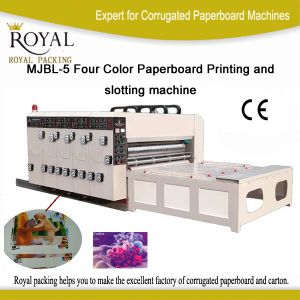 Mjbl-5 Series Four Color Paperboard Printing and Slotting Machine pictures & photos