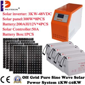 3kw/3000W off Grid Hybrid Solar Power System pictures & photos