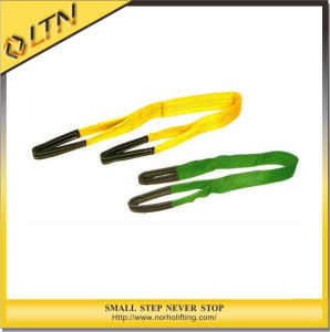 Two Ply Flat Webbing Slings with Yellow Webbing pictures & photos