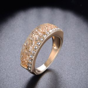 Elegant Alloy Costume Fashion Accessories Crystal Jewelry Ring pictures & photos
