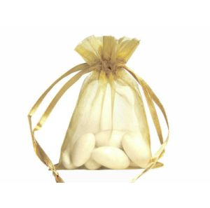 Gold Organza Flat Wedding Favor Bags Wholesale pictures & photos
