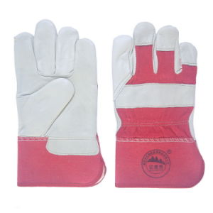 Leather Safety Winter Warmer Working Gloves for Workers pictures & photos