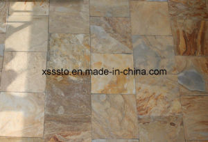 Natural Slate Rusty Irregular Wall Stone for House pictures & photos