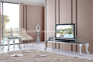 Modern Living Room Glass Top TV Rack pictures & photos