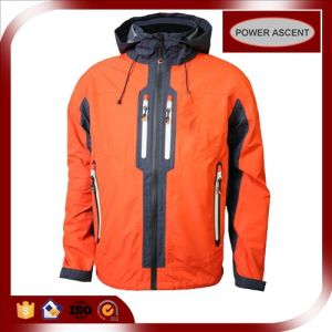 2015 Mens Orange Outdoor Sports Waterproof Softshell Ski Jacket pictures & photos