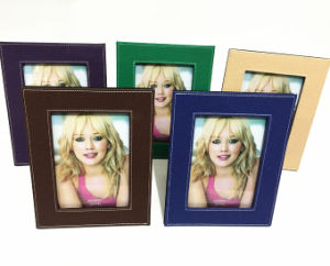 Colorful Graining PU Leather Photo Frames pictures & photos