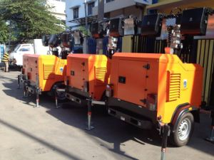 Mobile Light Tower Yanmar/Kubota Engine 9m 4 Lights pictures & photos