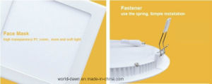 High Lumen 18W Glass LED Light LED Panel (WD-Glass01-R-18W) pictures & photos