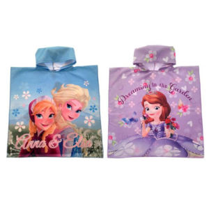 Pricess Design Kids Printed Beach Poncho Bath Poncho pictures & photos