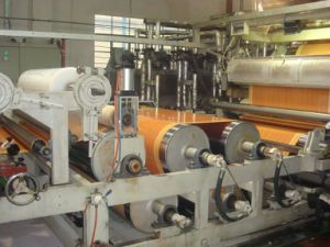 Wood Grain PVC Sheet Production Line/Calender/Mixer/Extruder pictures & photos