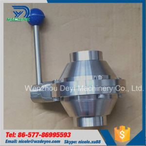 Ss304 Welding Ball Valve Butterfly Type pictures & photos