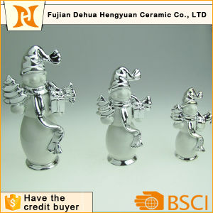 Plating Ceramic Snowman Craft for Home Decoration pictures & photos