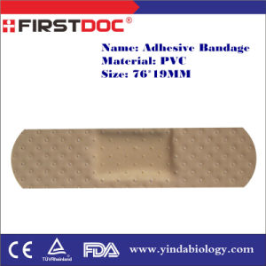 High Quality OEM 76*19mm PVC Material Skin Color Cutout Style Adhesive Bandages pictures & photos