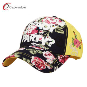 Orange Fitted Cotton Baseball Cap with Embroidery (CW-0687) pictures & photos
