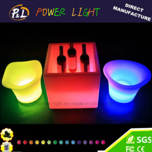 Bar Decorative Colorful Illuminated LED Square Ice Cooler pictures & photos