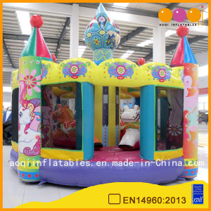 New Design Merry-Go-Round Bouncer Inflatable Catle for Kids (AQ01476) pictures & photos