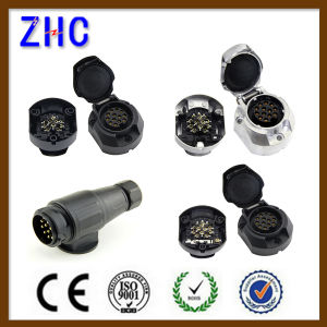 European 12volt 24 Volt 7p 13p Round Semi Trailer Parts Schuko Connector pictures & photos